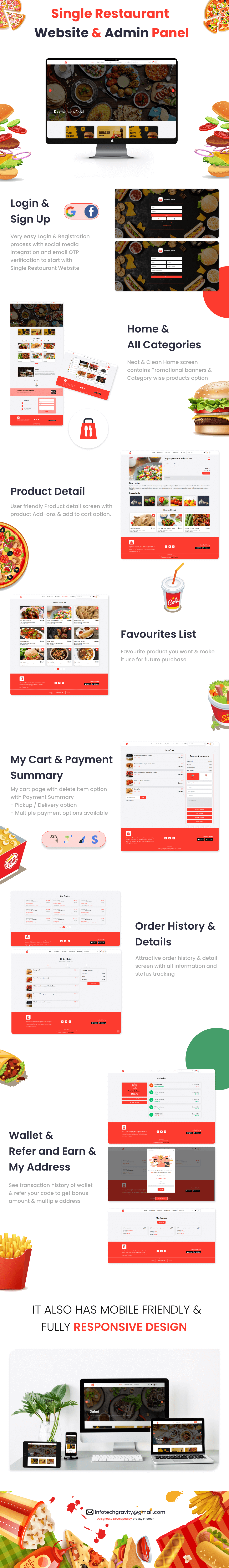 Single restaurant food ordering Website and Delivery Boy App with Admin Panel - 9