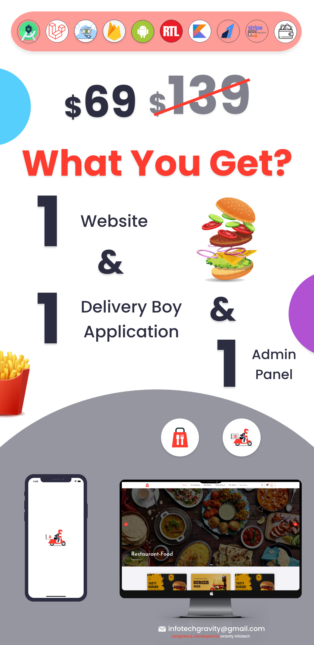 Single restaurant food ordering Website and Delivery Boy App with Admin Panel - 3