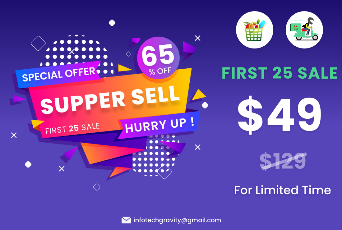 Grocery | Single Grocery Store Android User & Delivery Boy App With Admin Panel - 1